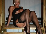 Mature Stockings Home Photo