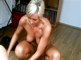 Mature Blonde German Woman Fucks with Younger Guy