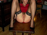 MILF XXX Photo Spreading Legs to Show Pussy