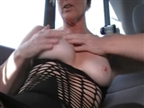 Hot Mature Wife Masturbates in the Car