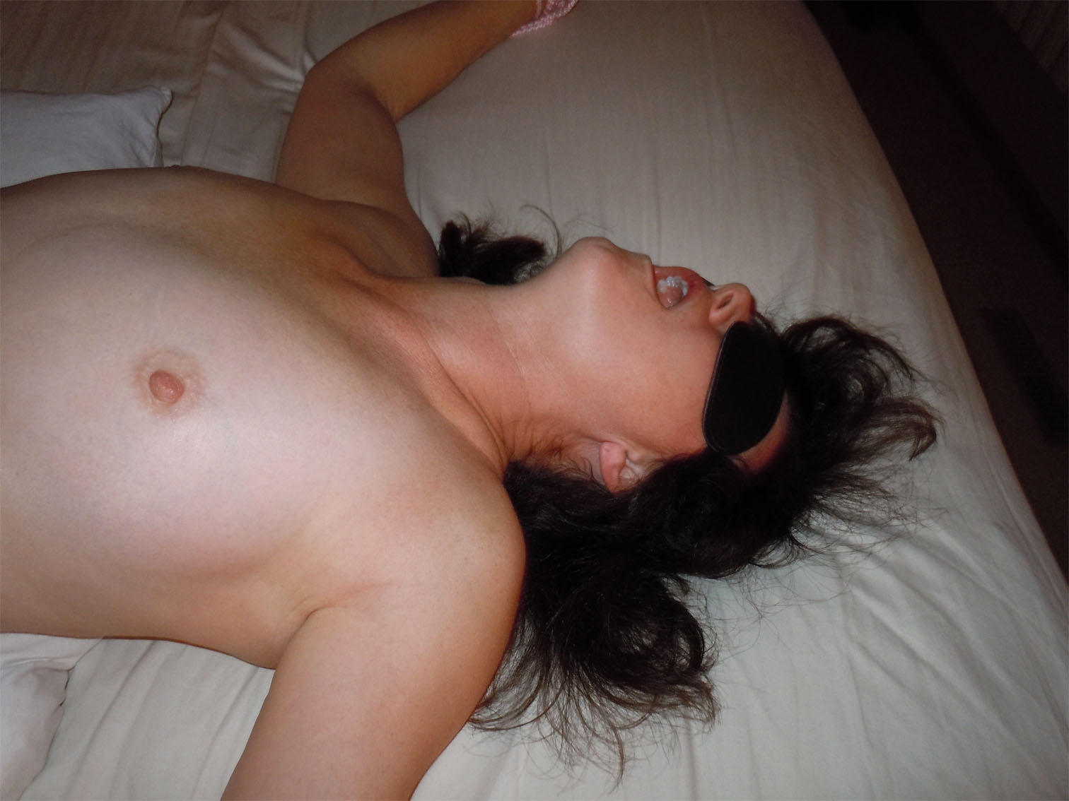 Blindfold wife sex