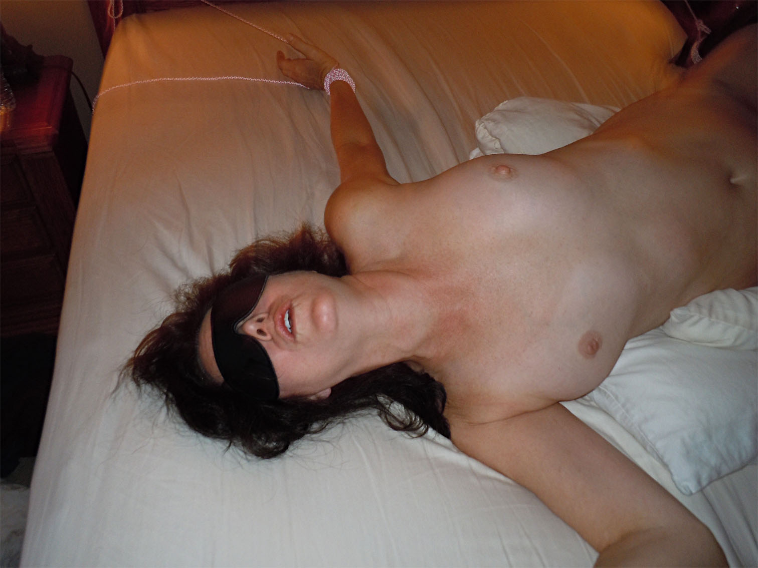 Mature wife blindfolded and used for sex in hotel room pictures.: www.mature-amateur-sex.com/4715/mature-wife-blindfolded-and-used...