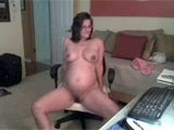 Pregnant Mature Woman Shows Her Nude Sexy Body on Webcam