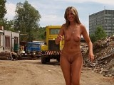 Hot Wife Walking Naked on a Construction Site Photo