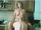 Horny Senior Couple Have Sex in Kitchen