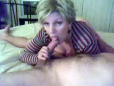 Mature Wife Sucks Cock on Camera