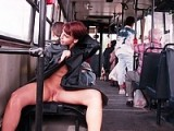 Russian Young Woman Flashes Pussy on Public Tram Photo