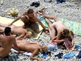 Beach Russian Orgy Couples Nude and Having Sex on Photos