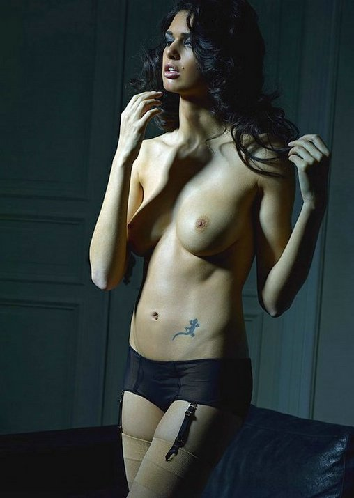 Artistic Pictures Topless Woman Exposed on Photo Camera
