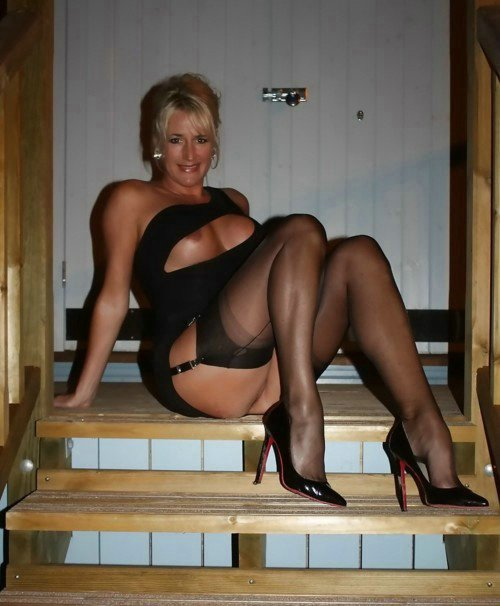 Mature wife in stockings got info