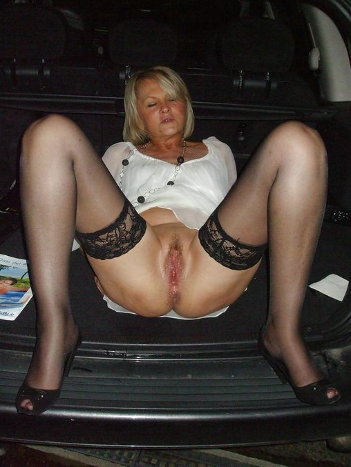 in stockings naked granny