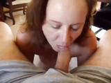 Sexy Mom Blows Dads Cock and Make Him Cum Hard in Her Mouth