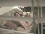 Lucky Boy Spying Her Sister Friend Through Balcony Window