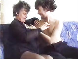 Old Elderly Granny Having Sex with Young Man in Home Video