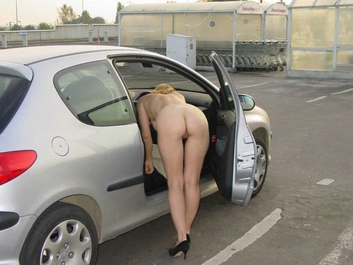 Wife in car nude pics