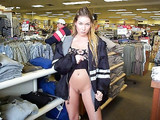 Wife Flashes her Pussy in Public Store Photo