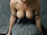 Artistic Photos Busty Topless Woman Hot Position