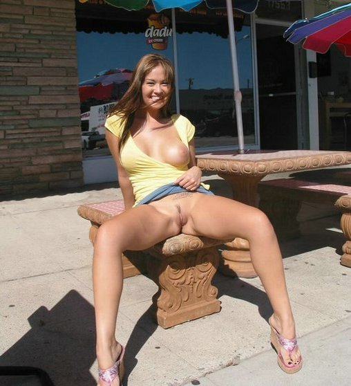 wives public Amateur flashing in