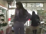 Japanese Woman Flashes Her Boobs and Pussy in Public Shop