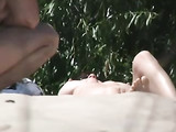 Beach Nudists Lady from Ukraine Closeup Pussy on Voyeur Tape