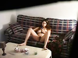 Spy on Hidden Cam Friends Sister Masturbating on the Couch