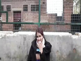 Mature Chubby Indian Woman Masturbates Pussy in Public Place