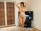 Busty Nude Girl Dancing on the Video Camera