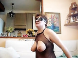 Mature Italian Wife Deepthroat and Gag