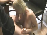 Smoking Blonde Mom Suck and Fuck with Young Dude
