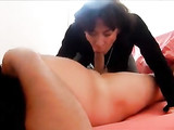 French Wife Deepthroat on Cock and Ass Fucking