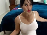 Superb busty mature brunette mom loves getting facials